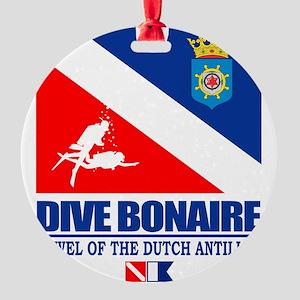 Dive Bonaire Round Ornament