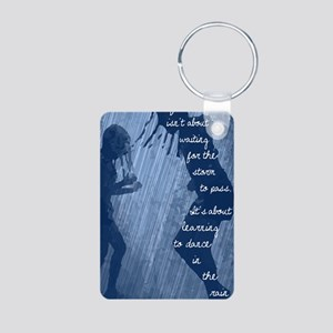 Dancing in the Rain Aluminum Photo Keychain
