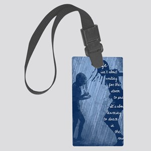 Dancing in the Rain Large Luggage Tag