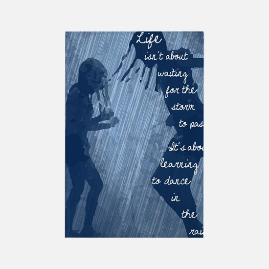 Dancing in the Rain Rectangle Magnet