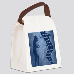 Dancing in the Rain Canvas Lunch Bag