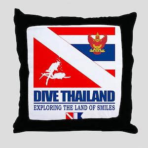 Dive Thailand Throw Pillow