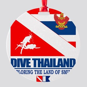Dive Thailand Round Ornament
