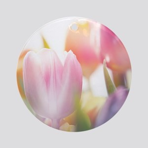 Beautiful Tulips Round Ornament