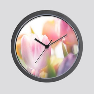 Beautiful Tulips Wall Clock