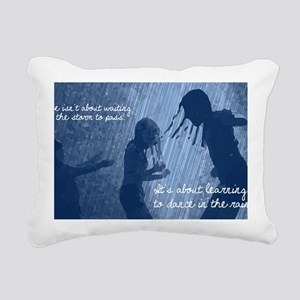 Dancing in the Rain Rectangular Canvas Pillow
