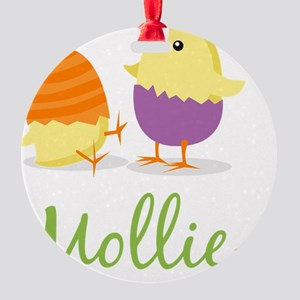 Easter Chick Mollie Round Ornament
