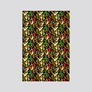 Jewelled Leaves Rectangle Magnet