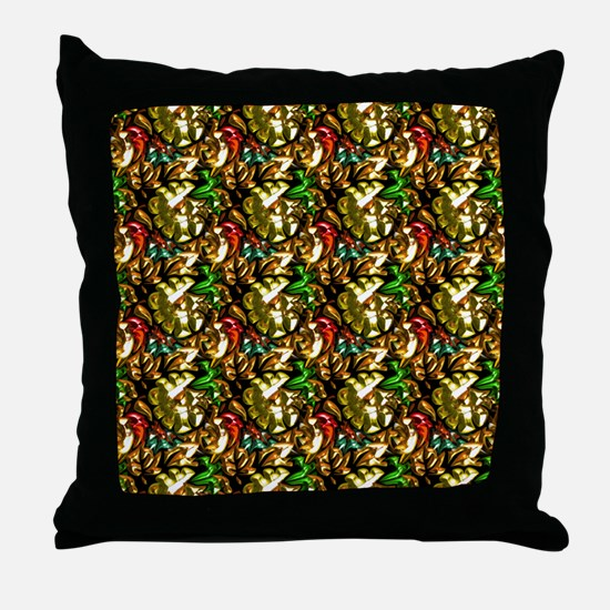 Jewelled Leaves Throw Pillow