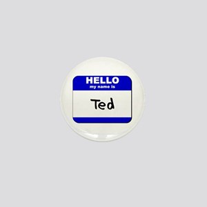 hello my name is ted Mini Button