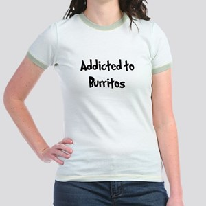 Addicted to Burritos Jr. Ringer T-Shirt