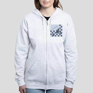 Chess King Pieces Women's Zip Hoodie