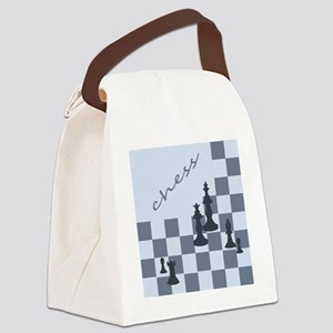 Chess King Pieces Canvas Lunch Bag