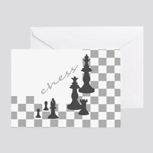 Chess King and Pieces Greeting Card