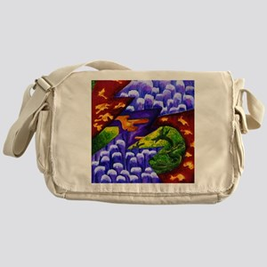 Dragonland - Green Dragons amp; Blue Messenger Bag