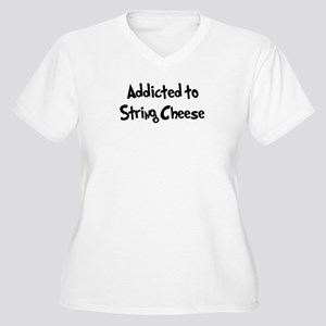 Addicted to String Cheese Women's Plus Size V-Neck