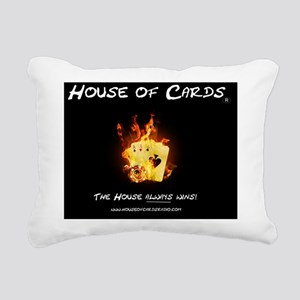 House of Cards - Fire Rectangular Canvas Pillow