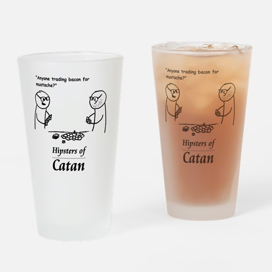 Hipsters of Catan Drinking Glass