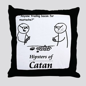 Hipsters of Catan Throw Pillow