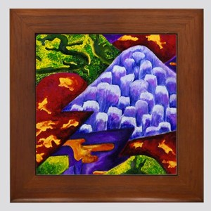 Dragonland - Green Dragons  Blue Ice M Framed Tile