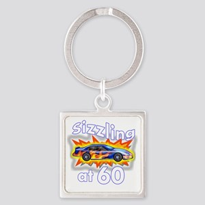 60 Sizzler Hot Rod BL Square Keychain