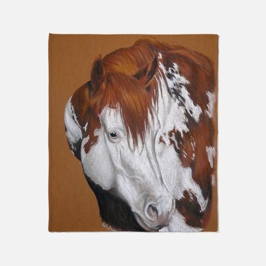 overo stallion Throw Blanket