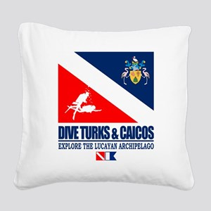 Dive Turks  and Caicos Square Canvas Pillow