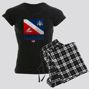 Dive Turks  and Caicos Women's Dark Pajamas