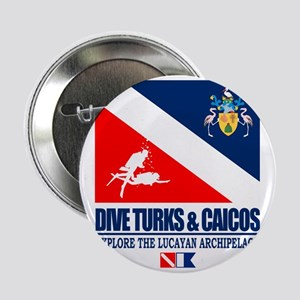 """Dive Turks  and Caicos 2.25"""" Button"""