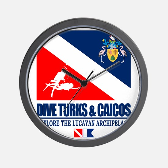 Dive Turks  and Caicos Wall Clock