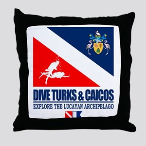 Dive Turks  and Caicos Throw Pillow