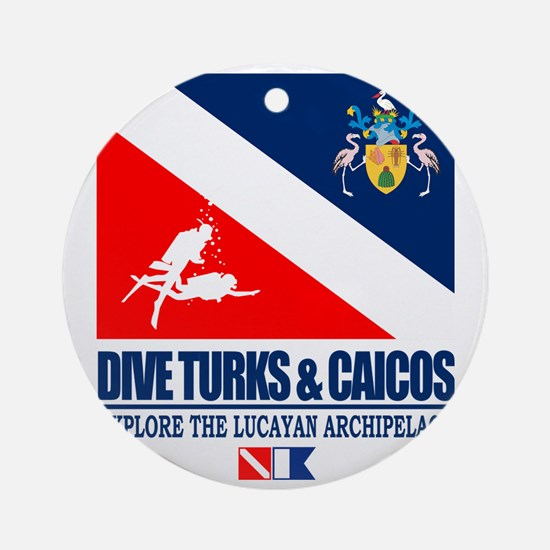 Dive Turks  and Caicos Round Ornament