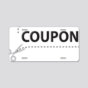 Coupon Aluminum License Plate