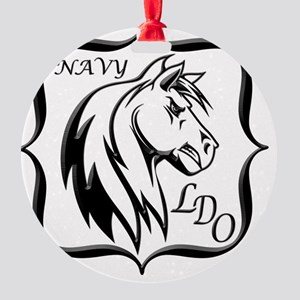 Navy LDO Round Ornament