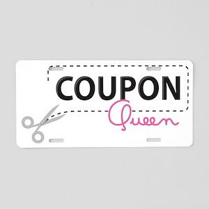Coupon Queen Aluminum License Plate