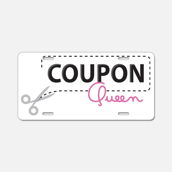 Coupon Queen Aluminum License Plate