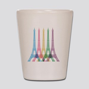 Eiffel Tower Pattern Shot Glass
