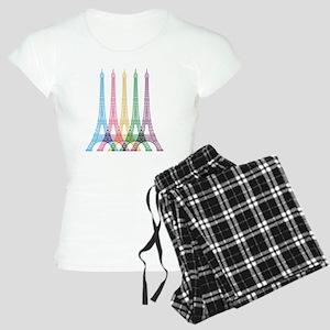Eiffel Tower Pattern Women's Light Pajamas
