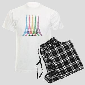 Eiffel Tower Pattern Men's Light Pajamas