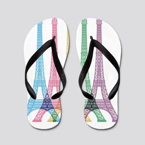 Eiffel Tower Pattern Flip Flops