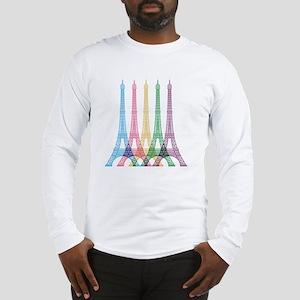 Eiffel Tower Pattern Long Sleeve T-Shirt