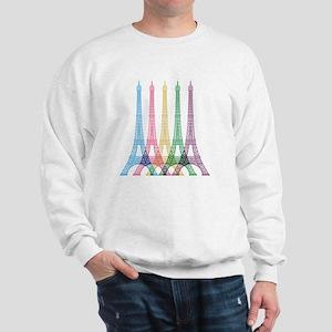Eiffel Tower Pattern Sweatshirt
