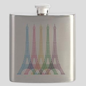 Eiffel Tower Pattern Flask