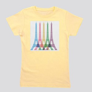 Eiffel Tower Pattern Girl's Tee