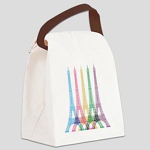 Eiffel Tower Pattern Canvas Lunch Bag