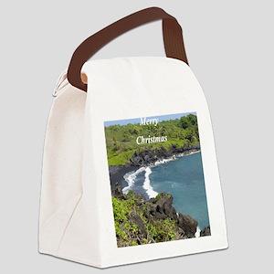 Black Sand Beach Hawaii Canvas Lunch Bag