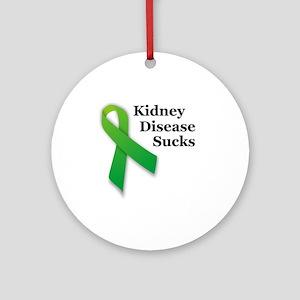 Kidney Disease Sucks Round Ornament