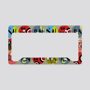 Colorful RN Polkadots License Plate Holder