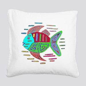 FISH MOLA DESIGN Square Canvas Pillow