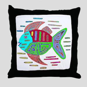 FISH MOLA DESIGN Throw Pillow